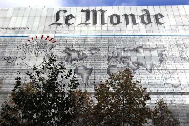 General view of the offices of French daily Le Monde in Paris
