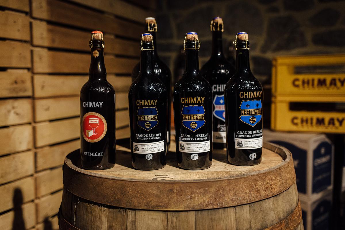 Différentes versions de la bière de Chimay - © Cyril Marcilhacy