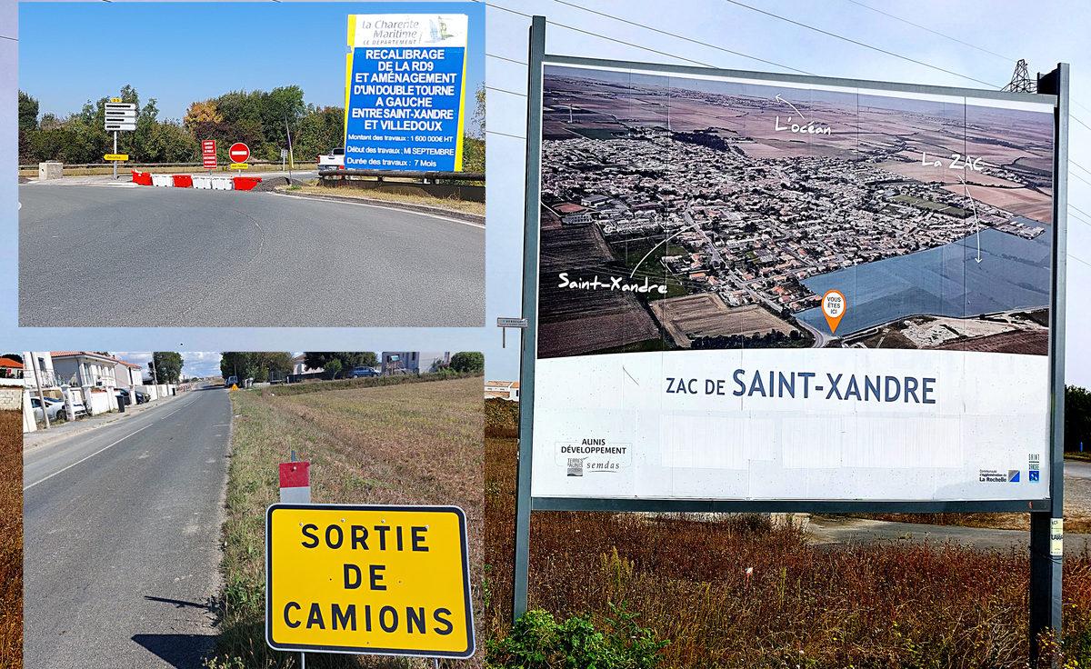 Habitat, zones d'activités, infrastructure, Saint-Xandre change - Reflets