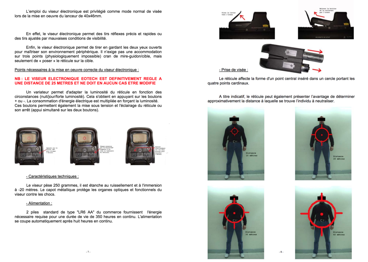 Document de formation au tir avec LBD de la police - Taranis
