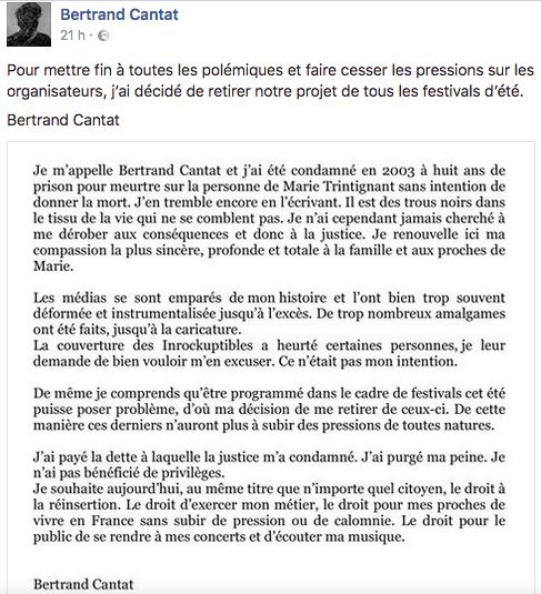Texte Cantat Facebook - Cantat - Facebook