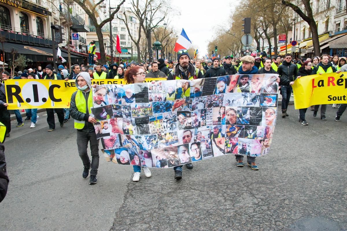 Manifestation des gilets jaunes le 26 janvier 2019 - © Reflets